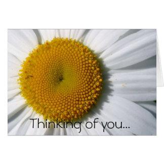 Margarita que piensa en usted… tarjeta de felicitación