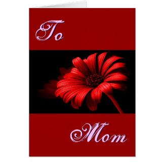 Margarita roja brillante feliz del día de madre I Tarjeta De Felicitación