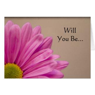 Margarita rosada de Gerber usted será mi tarjeta
