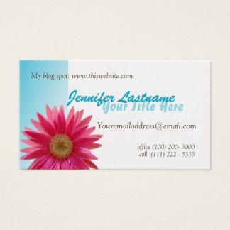Margarita rosada personal tarjeta de visita