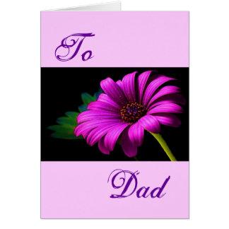 Margarita rosada púrpura feliz del día de padre II Felicitaciones