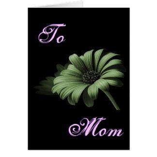 Margarita verde polvorienta feliz del día de madre tarjeta de felicitación
