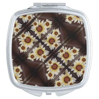 Margaritas en marrón espejo para el bolso