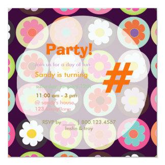 Margaritas maravillosas/fiesta de cumpleaños invitación 13,3 cm x 13,3cm
