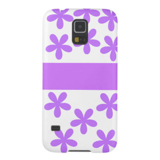 Margaritas púrpuras funda galaxy s5