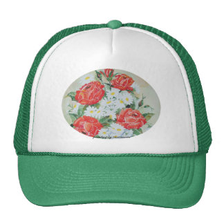 Margaritas y rosas del gorra
