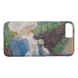Maria Cassat- Lydia Crocheting en el jardín Funda iPhone 7