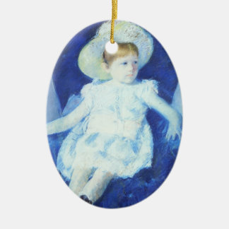 Maria Cassatt- Elsie en una silla azul Ornamentos De Navidad