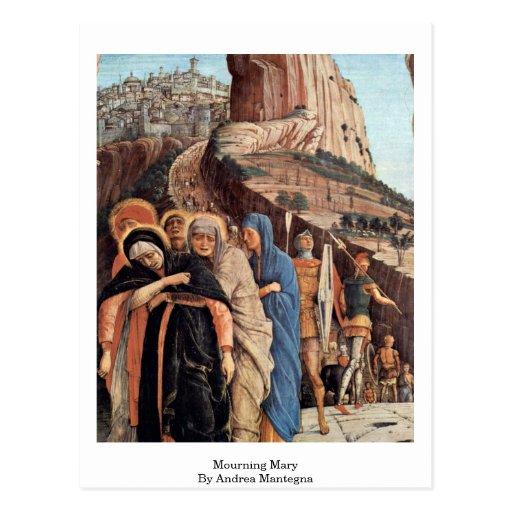 Maria de luto de Andrea Mantegna Postal