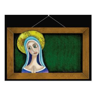 Maria en marco tarjeta postal