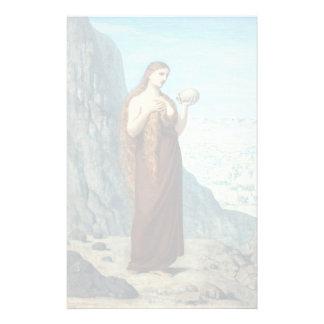 Maria Magdalena en el desierto de Puvis de Papelería Personalizada