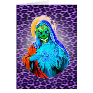 Maria muerta tarjeta de felicitación