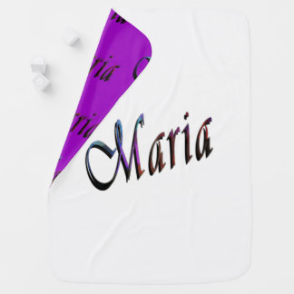 Maria, nombre, logotipo, manta reversible del bebé