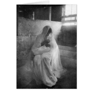 Maria que detiene a Jesús en tarjeta de