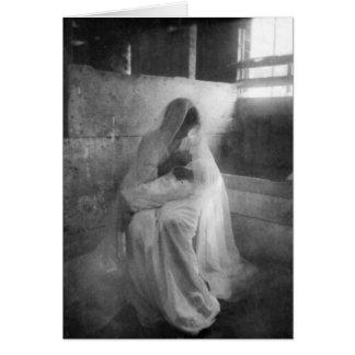 Maria que detiene a Jesús en tarjeta de nota