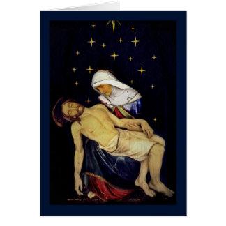 Maria que detiene a Jesús Tarjeta