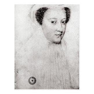 Maria, reina de escocés en el luto blanco, 1560 postal