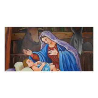 Maria y Jesús Tarjeta Fotografica Personalizada