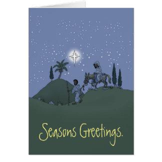 Maria y José, tarjeta de Navidad