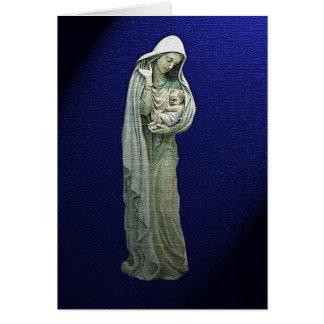 Maria y la tarjeta de Navidad del niño de Cristo
