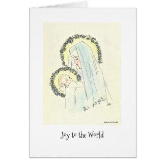 Maria y niño tarjeta de felicitación