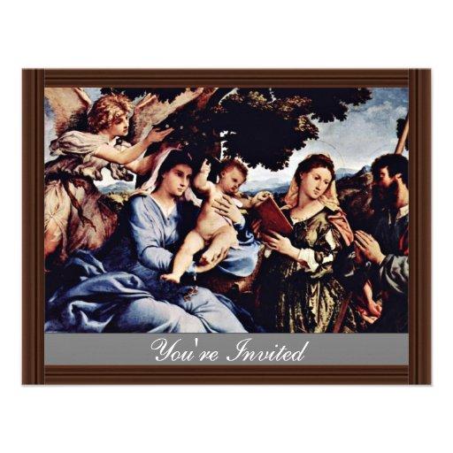 Maria y St. Catherine de Alexandría San Jaime D. Invitaciones Personales