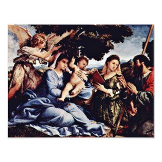 Maria y St. Catherine de Alexandría San Jaime D. Invitación 10,8 X 13,9 Cm