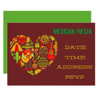 Mariachi temático mexicano de la fiesta del fiesta invitación 12,7 x 17,8 cm