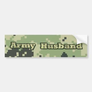 Marido del ejército pegatina para coche