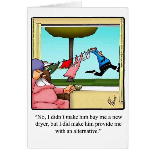 Marido divertido de la tarjeta del humor del