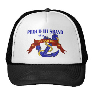 Marido orgulloso de un marinero de los E.E.U.U. Gorras