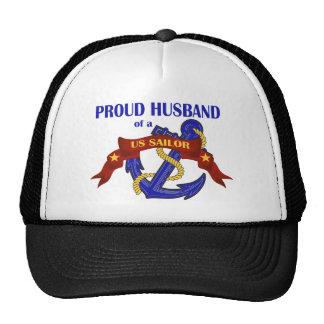 Marido orgulloso de un marinero de los E.E.U.U. Gorros