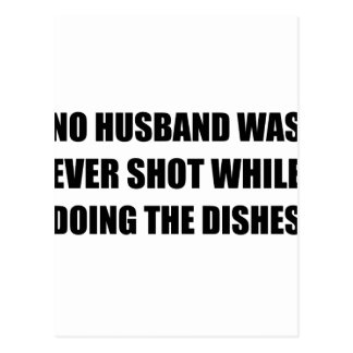 Marido que hace platos postal