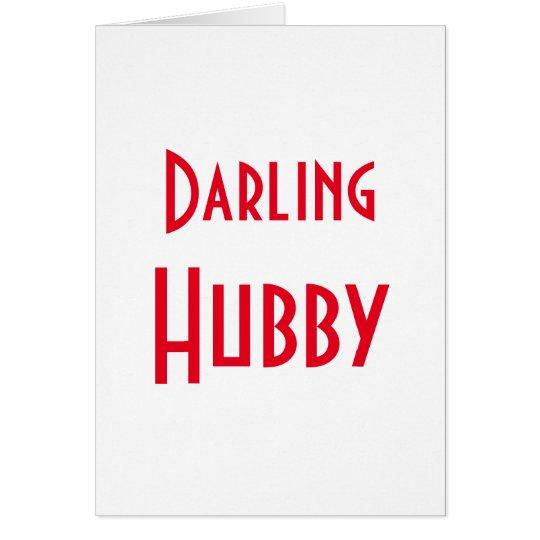 Marido querido tarjeta de felicitación