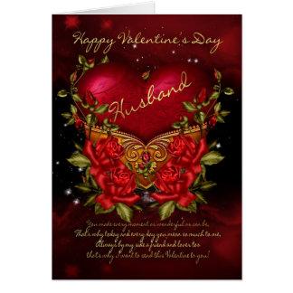 Tarjeta Marido, tarjeta del el día de San Valentín con el