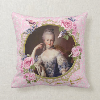 Marie Antoinette Pink Floral Pillow クッション Cojín Decorativo
