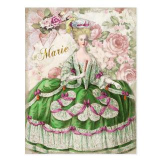 Marie Antoinette  Portrait Postcard Bouquet Postal