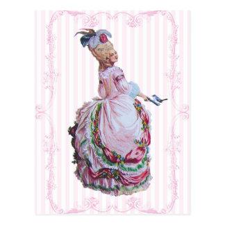 Marie Antonieta en postales rosadas de la