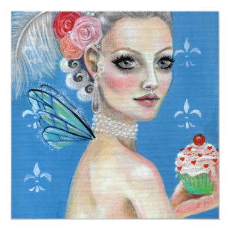 Marie Antonieta los dejó comer la torta Invitación 13,3 Cm X 13,3cm