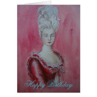 Marie Antonieta - tarjeta de cumpleaños