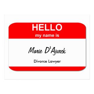 Marie D'Ajurck, abogado de divorcio Postal
