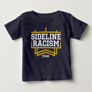 Marina de guerra/amarillo del bebé de la camiseta