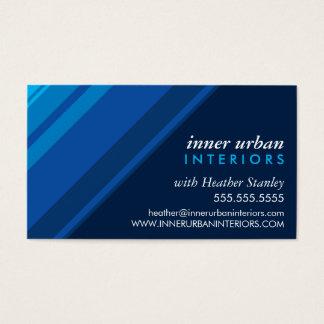 Marina de guerra azul monocromática fresca tarjeta de negocios