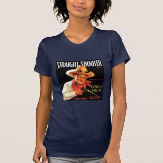 Marina de guerra de la pistola recta w camisetas