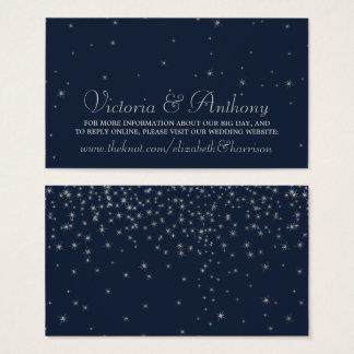 Marina de guerra elegante y el casarse de plata de tarjeta de visita