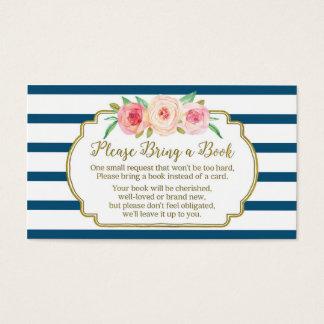 Marina de guerra floral del rosa de la tarjeta de