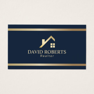 Marina de guerra moderna del agente inmobiliario tarjeta de visita