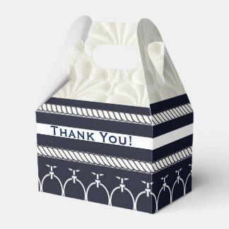 Marina de guerra náutica y boda de playa elegante caja de regalos
