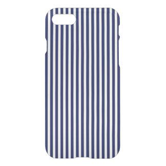 Marina de guerra náutica y rayas blancas de la funda para iPhone 8/7
