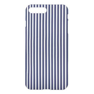 Marina de guerra náutica y rayas blancas de la funda para iPhone 8 plus/7 plus
